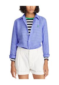 Niebieska koszula Ralph Lauren klasyczna, z długim rękawem