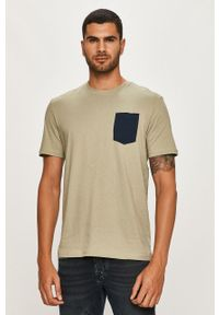 Zielony t-shirt Only & Sons na co dzień, z okrągłym kołnierzem, casualowy