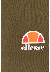 Ellesse - Spodnie. Okazja: na co dzień. Kolor: zielony. Materiał: dzianina, materiał. Wzór: gładki. Styl: casual