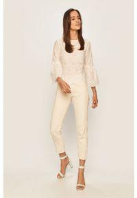 Biała bluzka Answear Lab wakacyjna, na co dzień