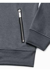 Szara bluza Ombre Clothing z kapturem, melanż