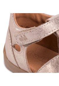 Złote sandały Froddo na lato, na co dzień, z aplikacjami, casualowe