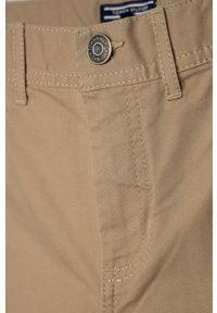 Beżowe spodnie TOMMY HILFIGER gładkie