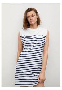 mango - Mango Sukienka codzienna Picasa 87978631 Biały Regular Fit. Okazja: na co dzień. Kolor: biały. Typ sukienki: proste. Styl: casual