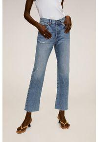Niebieskie proste jeansy mango