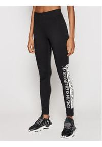 Calvin Klein Jeans Legginsy J20J215789 Czarny Slim Fit. Kolor: czarny