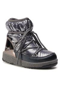Srebrne buty zimowe Moon Boot z aplikacjami, na spacer