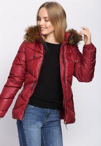 Czerwona kurtka zimowa Born2be #7