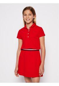 Czerwona sukienka TOMMY HILFIGER polo, casualowa, na co dzień