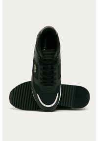 Czarne sneakersy Lacoste z cholewką, z okrągłym noskiem