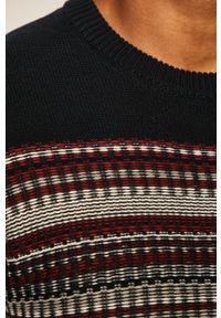 Niebieski sweter medicine z aplikacjami, na co dzień, casualowy