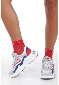 Casu - Wielokolorowe buty sportowe sneakersy sznurowane casu c08/7. Kolor: wielokolorowy. Materiał: skóra ekologiczna, materiał. Szerokość cholewki: normalna. Wzór: kolorowy. Sezon: lato, wiosna