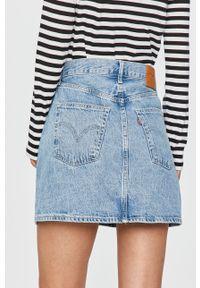 Niebieska spódnica Levi's® w kolorowe wzory, na co dzień