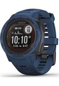 GARMIN - Zegarek sportowy Garmin Instinct Solar Granatowy (010-02293-01). Kolor: niebieski. Styl: sportowy