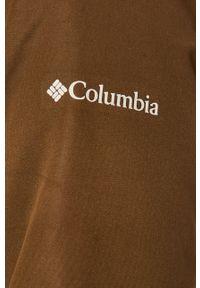 Oliwkowa kurtka columbia z kapturem, casualowa, na co dzień