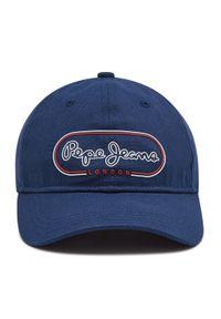 Pepe Jeans - Czapka z daszkiem PEPE JEANS - Jana Cap PL040316 Thames. Kolor: niebieski. Materiał: materiał, bawełna