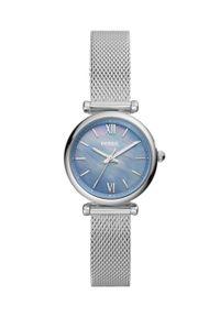 Fossil - Zegarek ES5083. Kolor: srebrny. Materiał: materiał