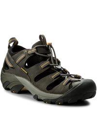 Czarne sandały trekkingowe keen na lato