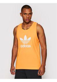 Pomarańczowy tank top Adidas