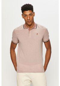 Różowa koszulka polo Premium by Jack&Jones polo, gładkie, casualowa