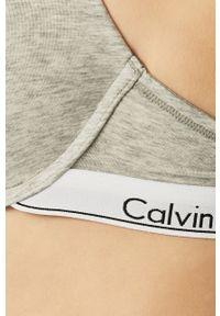 Szary biustonosz Calvin Klein Underwear z fiszbinami, melanż