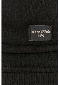 Czarna bluza nierozpinana Marc O'Polo na co dzień, gładkie, casualowa, polo