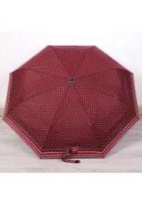 Parasol składany DOPPLER PA141 bordowy. Kolor: czerwony. Materiał: materiał