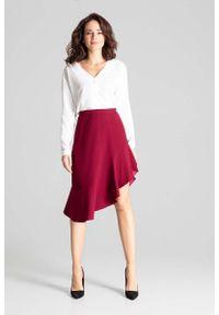 Czerwona spódnica asymetryczna Katrus