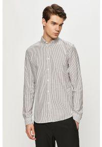Tom Tailor - Koszula bawełniana. Okazja: na co dzień. Typ kołnierza: button down. Kolor: szary. Materiał: bawełna. Styl: casual