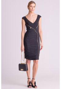 Czarna sukienka Versace Collection elegancka