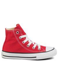 Czerwone kozaki Converse z cholewką