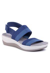Niebieskie sandały Clarks na co dzień, casualowe