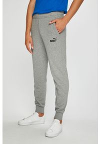 Szare spodnie dresowe Puma z aplikacjami