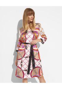 HERZEN'S ANGELENGEHEIT - Jedwabna sukienka we wzory. Kolor: beżowy. Materiał: jedwab. Wzór: kolorowy. Długość: mini