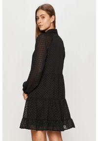 Czarna sukienka Vila rozkloszowana, casualowa, na co dzień, mini