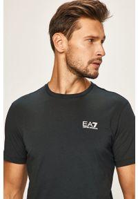 EA7 Emporio Armani - T-shirt. Okazja: na co dzień. Kolor: niebieski. Materiał: dzianina, materiał. Wzór: gładki. Styl: casual