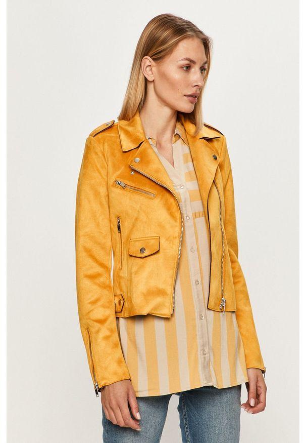 Żółta kurtka only na co dzień, bez kaptura