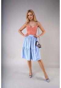 Niebieska spódnica rozkloszowana Nommo