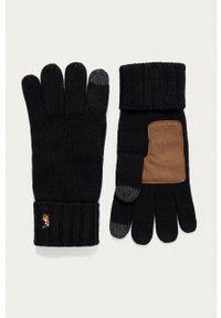 Polo Ralph Lauren - Rękawiczki. Kolor: czarny. Materiał: dzianina. Wzór: gładki