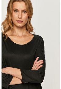 Czarna bluzka z długim rękawem Vila casualowa, na co dzień