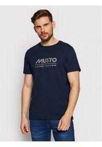 Musto T-Shirt Lr Ss Logo Tee 84008 Granatowy Regular Fit. Kolor: niebieski #1