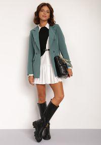 Renee - Zielona Marynarka Cileia. Kolor: zielony. Styl: glamour, klasyczny #5