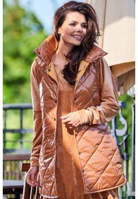 Beżowa kurtka pikowana Awama