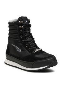 Bagheera - Śniegowce BAGHEERA - 86340 C0108 Black/White. Kolor: czarny. Materiał: skóra ekologiczna, materiał, zamsz. Szerokość cholewki: normalna. Wzór: aplikacja. Sezon: zima