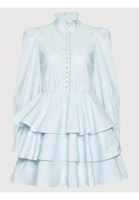 Custommade Sukienka koktajlowa Lydia 212369403 Niebieski Regular Fit. Kolor: niebieski. Styl: wizytowy
