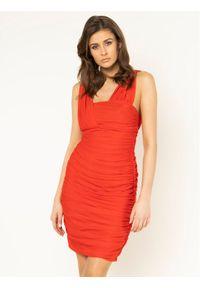 Czerwona sukienka koktajlowa Pinko wizytowa