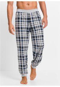 Spodnie do spania z dżerseju bonprix jasnoszary melanż w kratę. Kolor: szary. Materiał: jersey. Długość: długie. Wzór: melanż