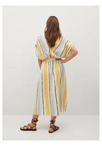 mango - Mango Sukienka codzienna Wes 87027160 Kolorowy Regular Fit. Okazja: na co dzień. Wzór: kolorowy. Typ sukienki: proste. Styl: casual