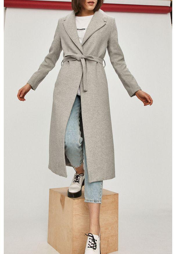 Szary płaszcz Answear Lab wakacyjny, gładki, na co dzień