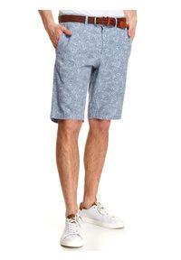 Niebieskie szorty TOP SECRET na lato, w kolorowe wzory